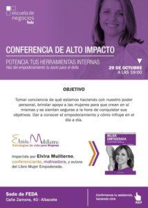 Elvira Muliterno empoderamiento Conferencia FEDA Mujer empoderada Transformar